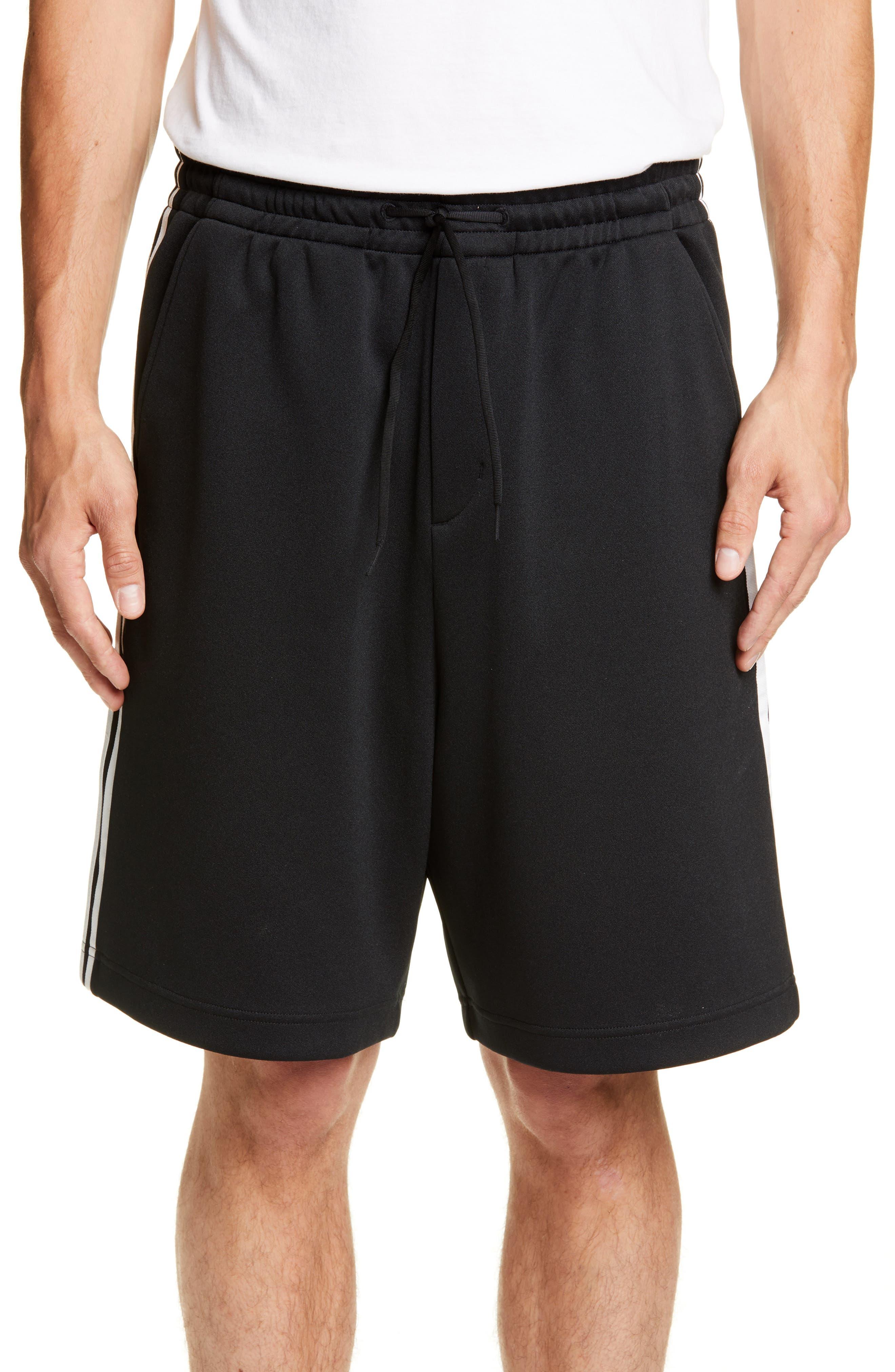 ,                             Stripe Shorts,                             Main thumbnail 1, color,                             BLACK