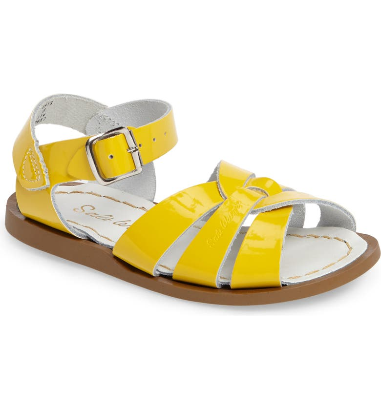 SALT WATER SANDALS BY HOY Water Friendly Sandal, Main, color, SHINY YELLOW