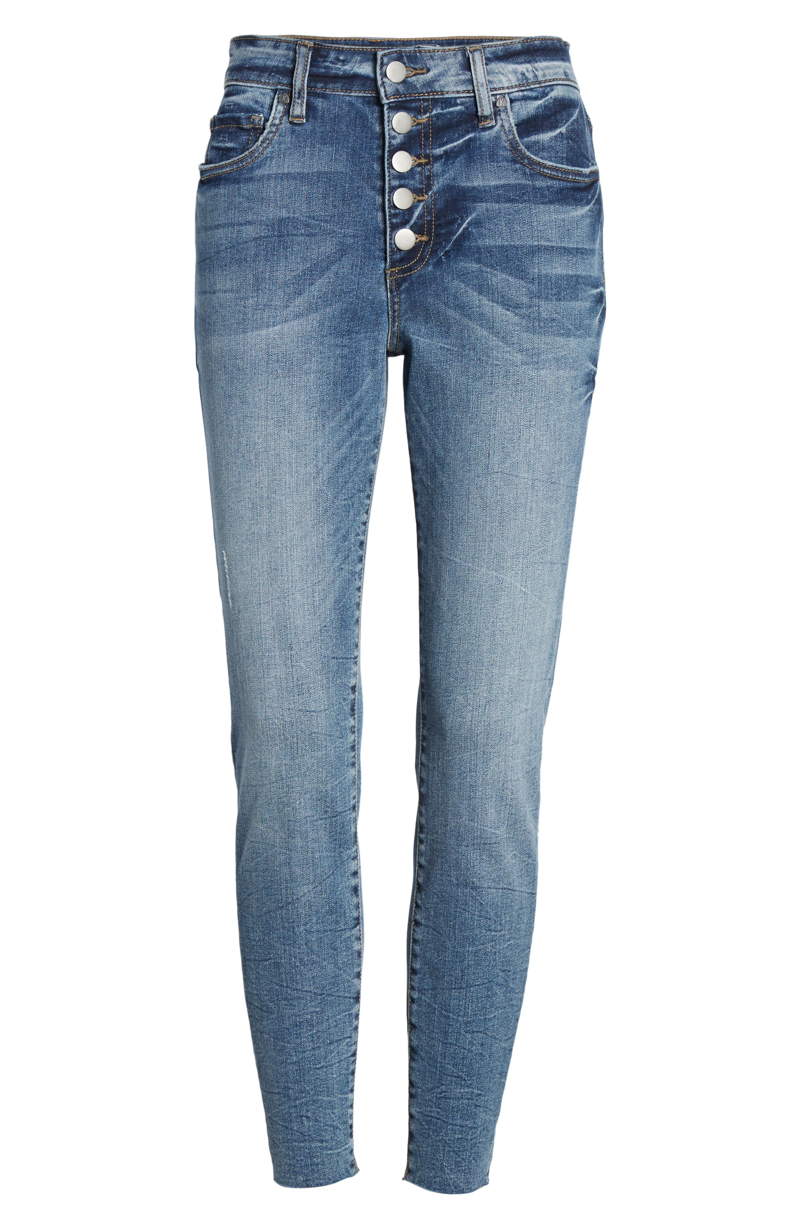 ,                             Donna Button Fly Skinny Jeans,                             Alternate thumbnail 6, color,                             DEMAND