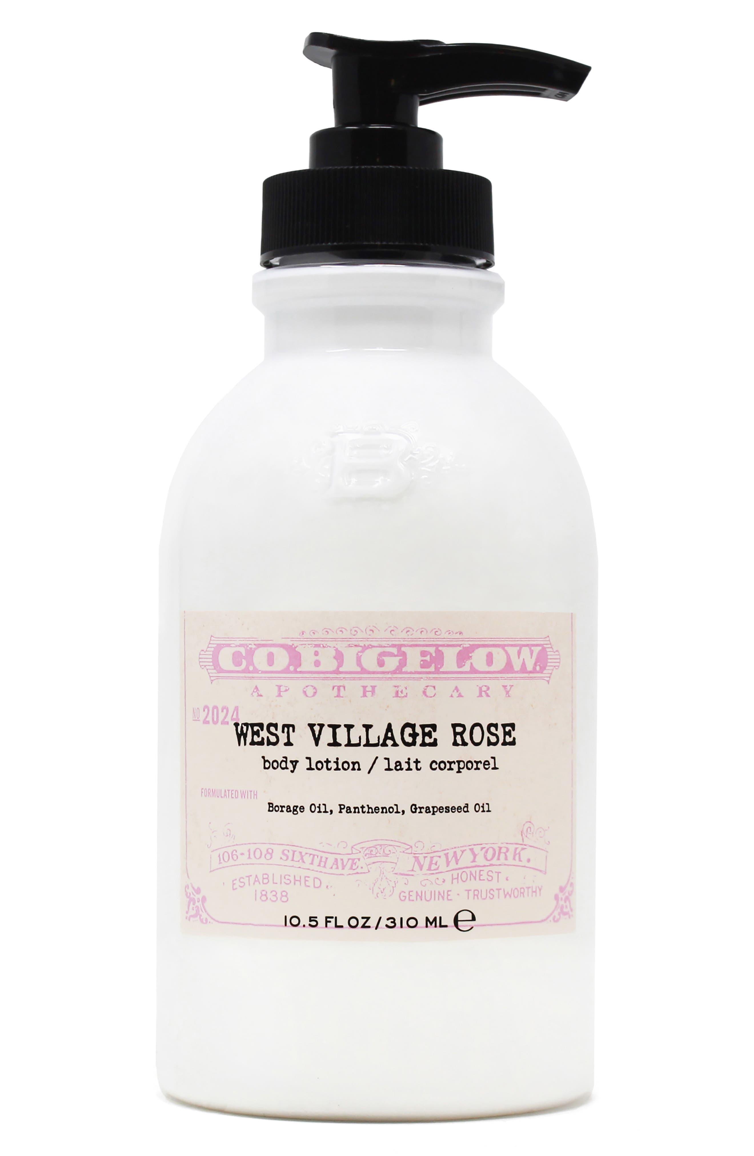 C.o. Bigelow West Village Rose Body Lotion