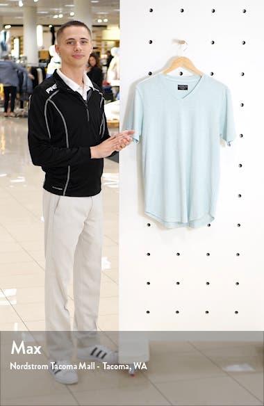 Sun Faded Curved Hem Cotton Slub T-Shirt, sales video thumbnail