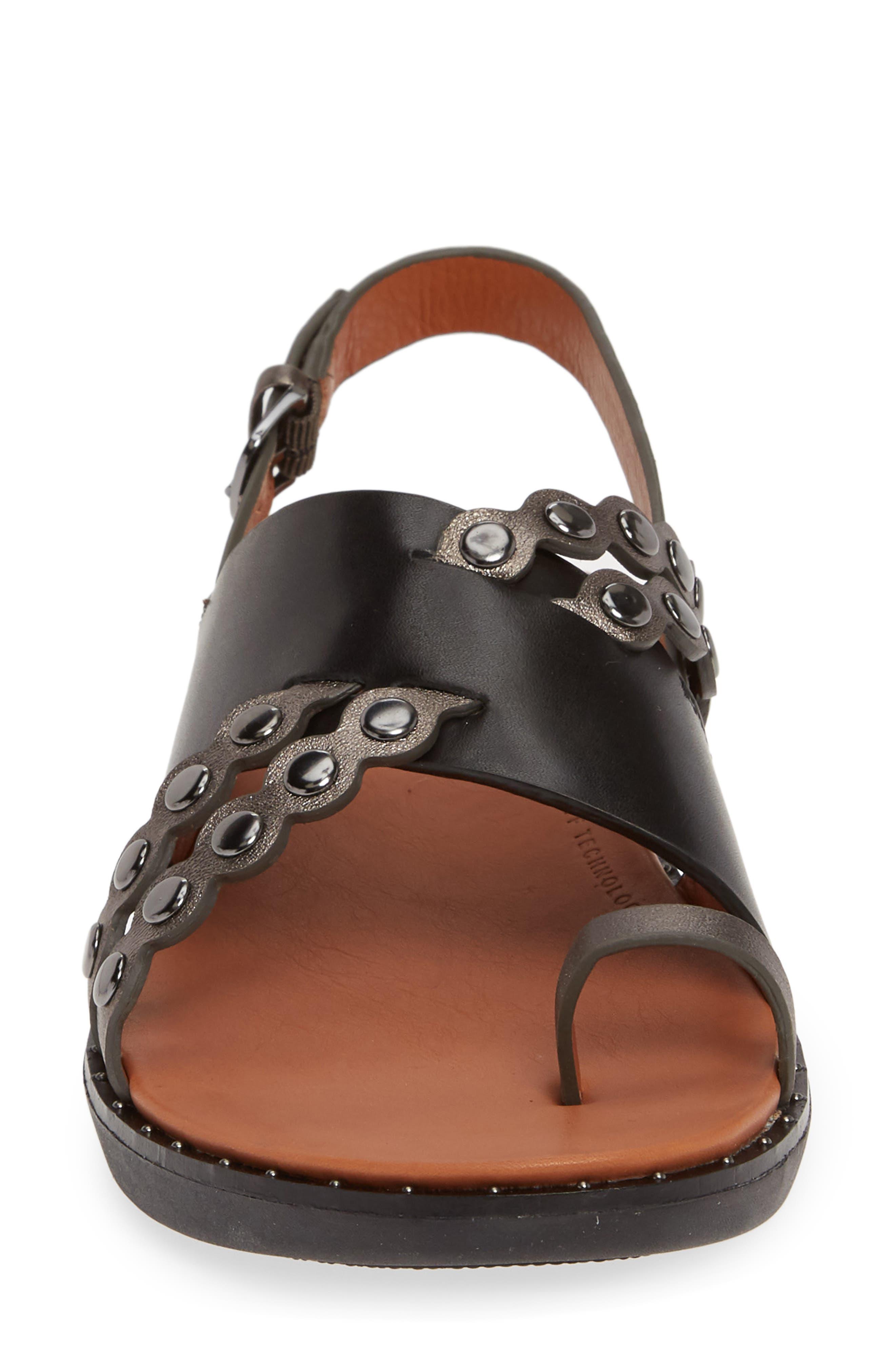 ,                             Scallop Embellished Sandal,                             Alternate thumbnail 4, color,                             001