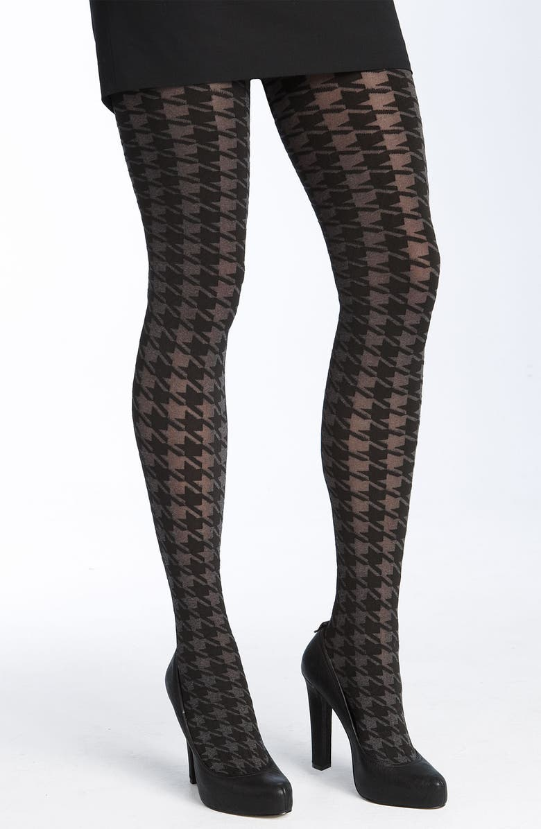 DKNY Hosiery 'Bold Houndstooth' Tights, Main, color, 960