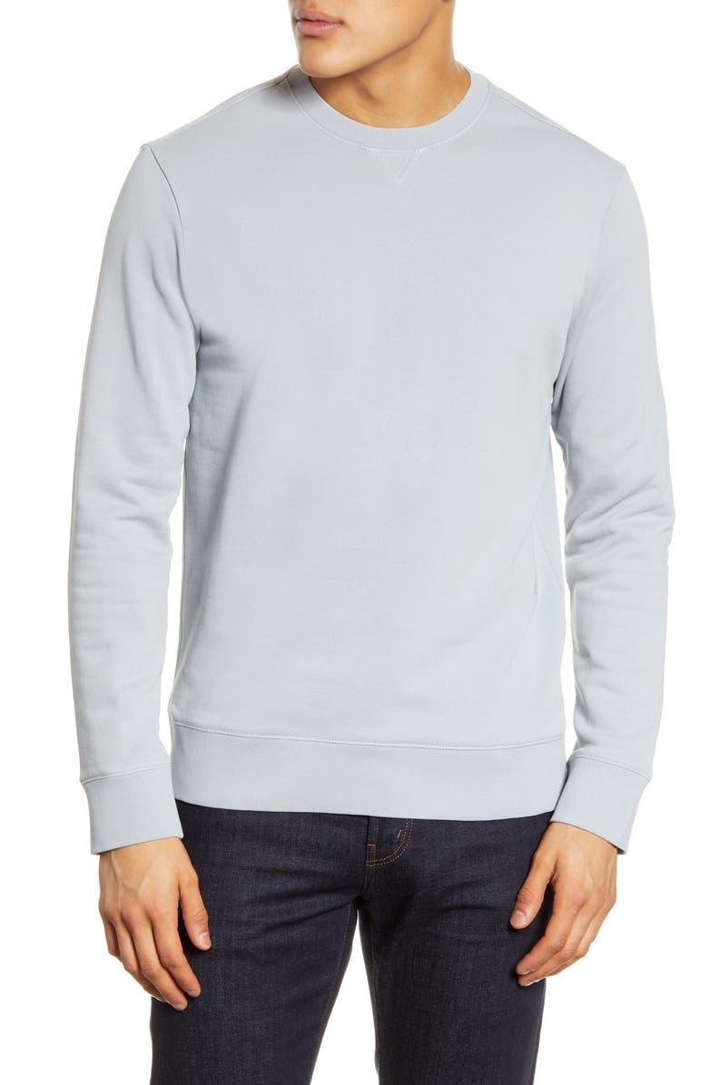 CLUB MONACO Crewneck Sweatshirt, Main, color, SKY