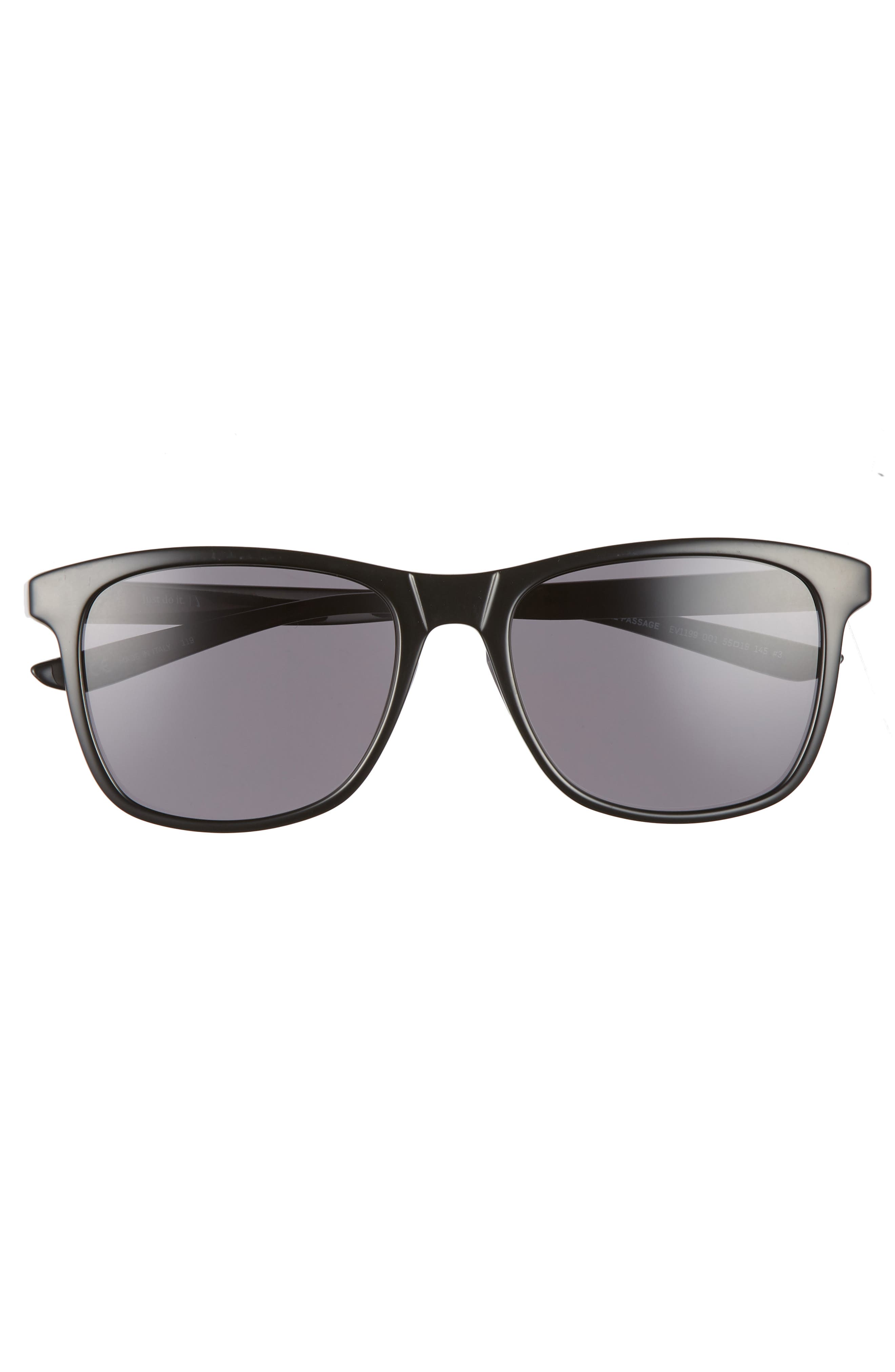 ,                             Passage 55mm Square Sunglasses,                             Alternate thumbnail 3, color,                             BLACK/ DARK GREY