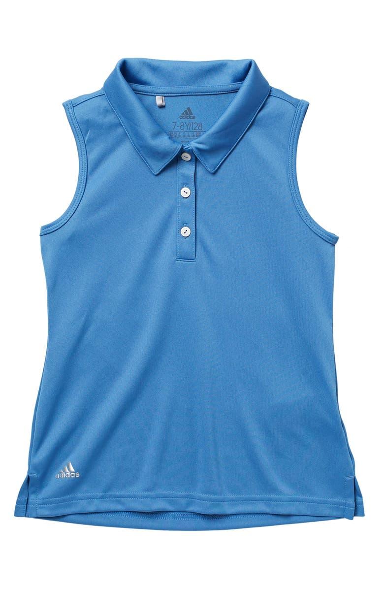 ADIDAS GOLF Tournament Sleeveless Button Down Polo, Main, color, TRACE ROYAL S18