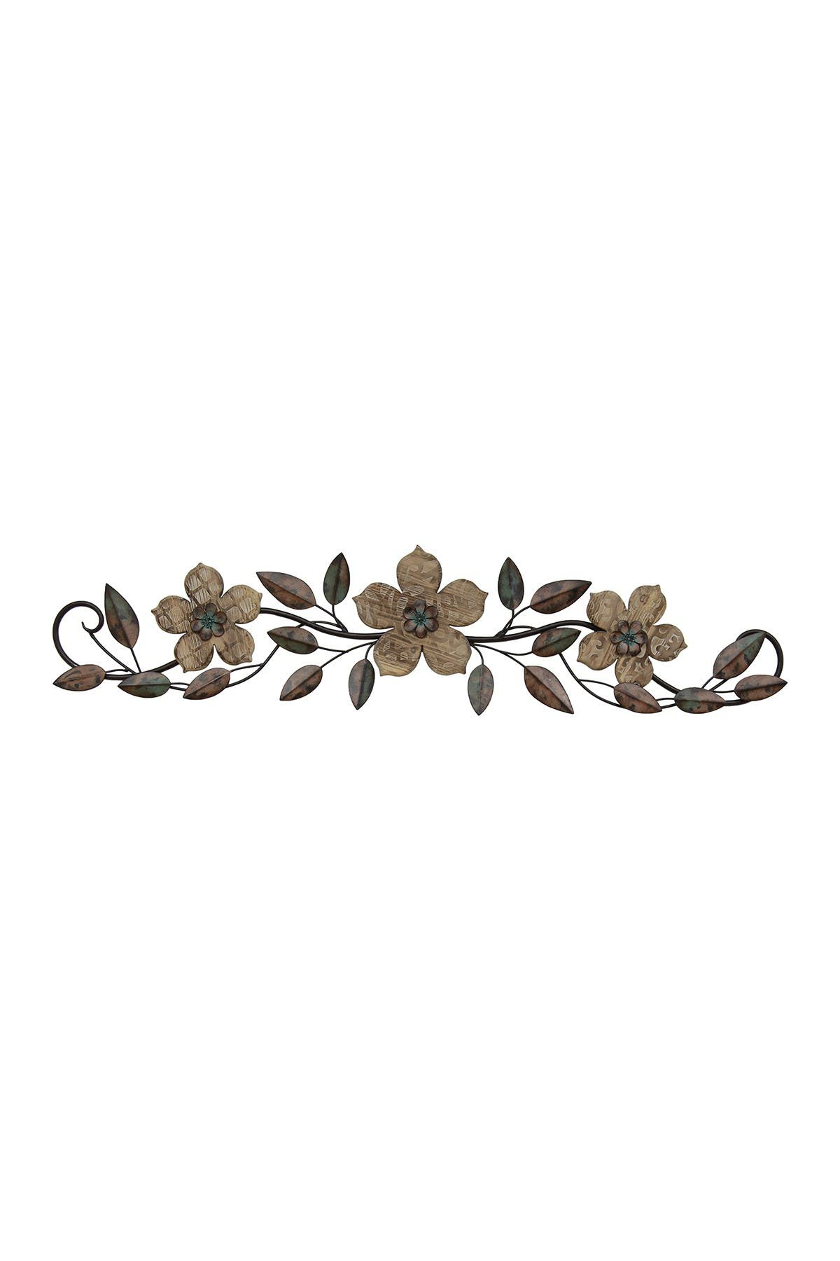 Image of Stratton Home Floral Patterned Wood Over the Door Multicolor Wall Decor