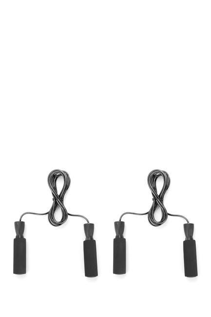 Image of MIND READER Adjustable Jump Rope with Memory Foam Ergonomic Handles - Set of 2