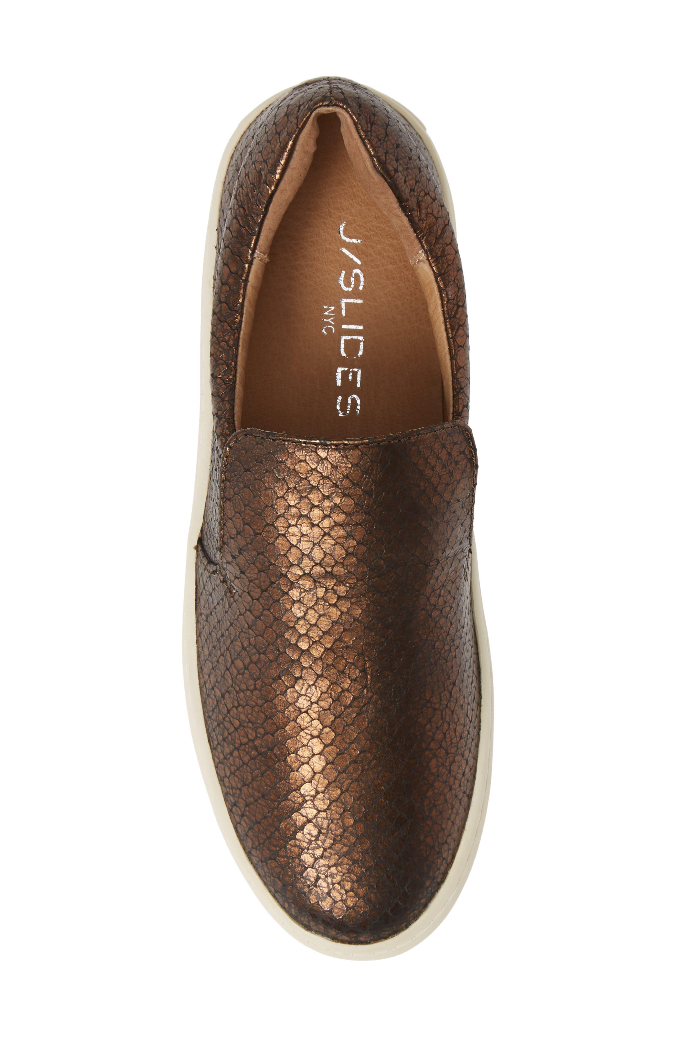 ,                             Harry Slip-On Sneaker,                             Alternate thumbnail 5, color,                             BRONZE EMBOSSED LEATHER