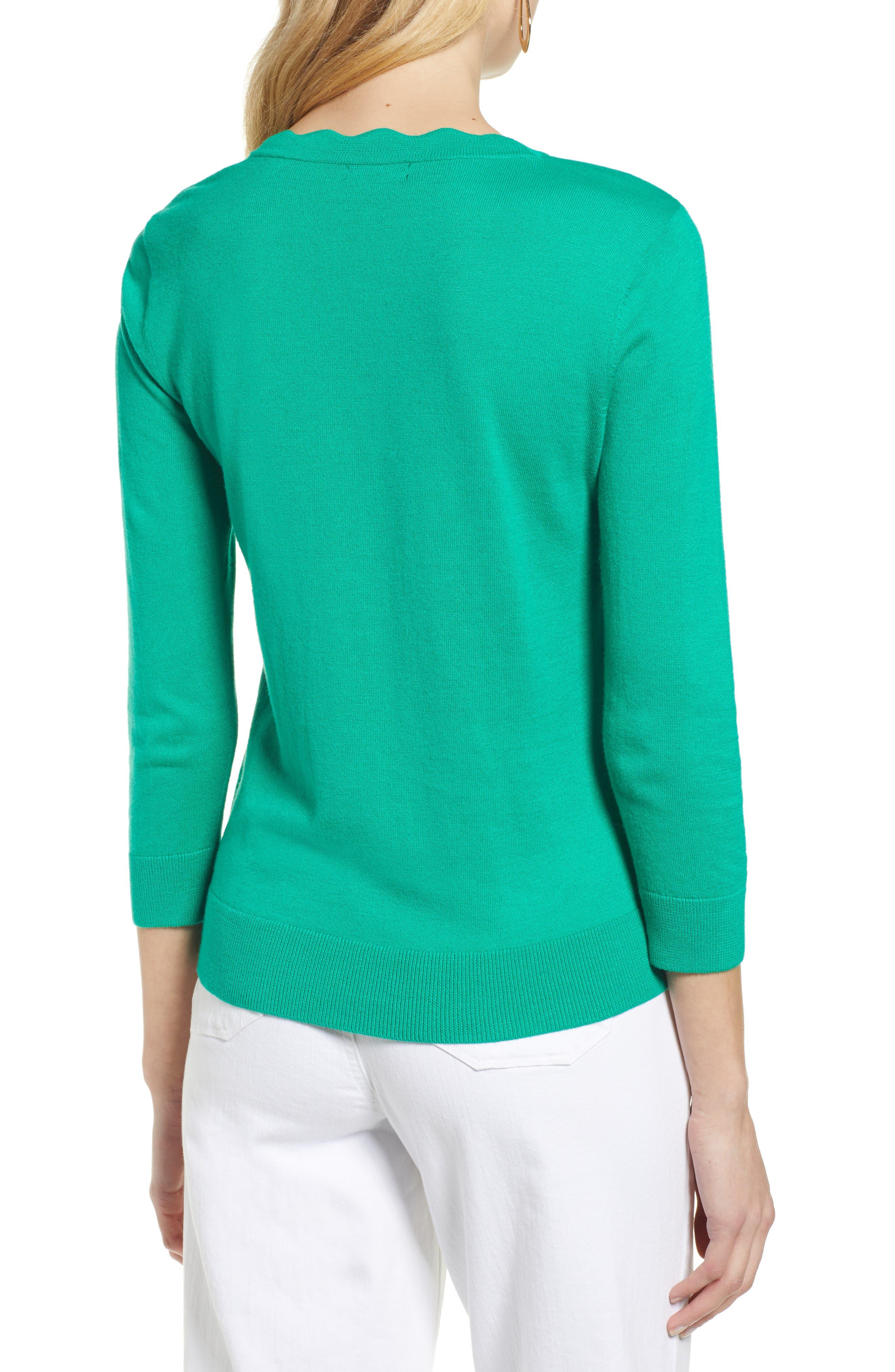 ,                             Scallop Neck Sweater,                             Alternate thumbnail 14, color,                             310