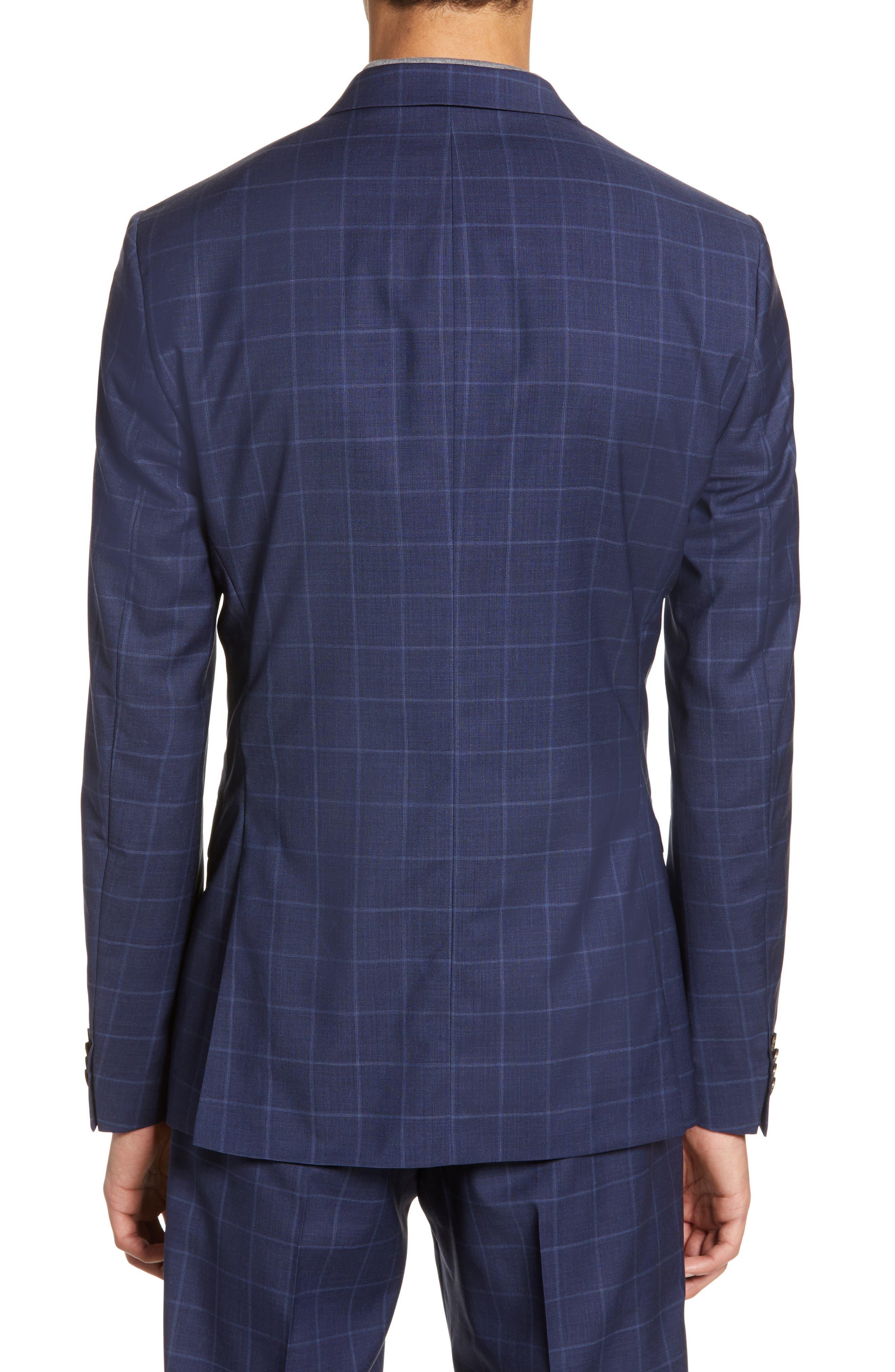,                             Jile Trim Fit Windowpane Wool Blazer,                             Alternate thumbnail 2, color,                             SOFT BLUE