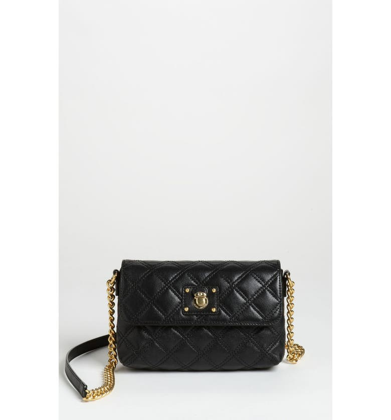 MARC JACOBS 'Quilting - Single' Leather Shoulder Bag, Main, color, 001