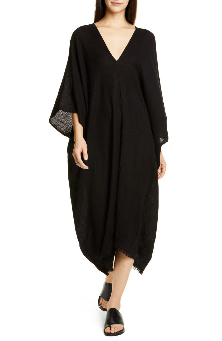 EILEEN FISHER Cotton Caftan, Main, color, 001