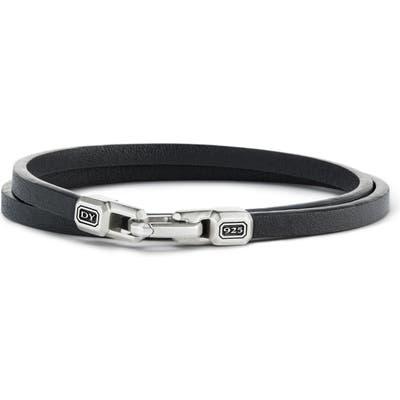 David Yurman Streamline Double Wrap Leather Bracelet