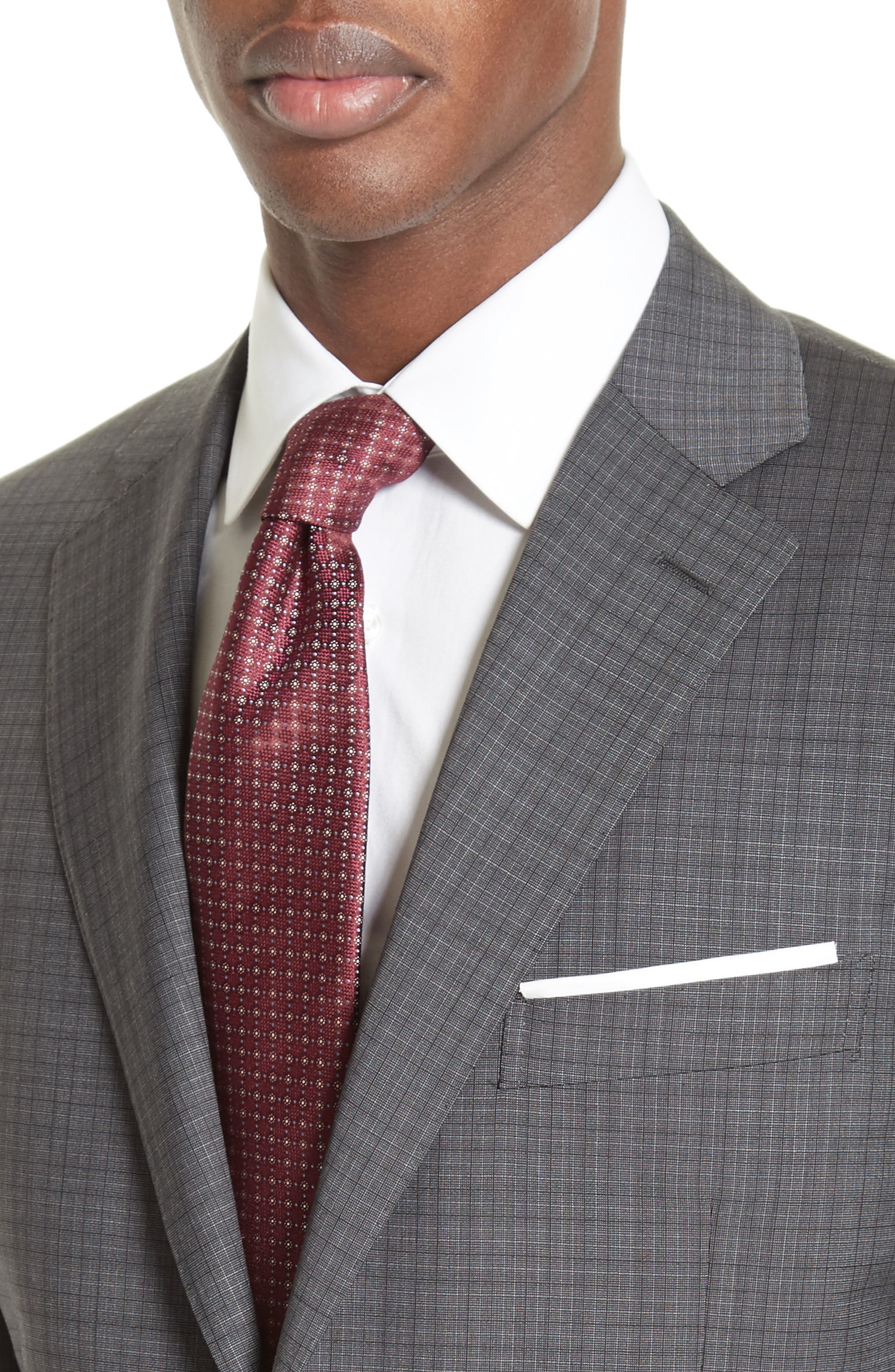 ,                             Classic Fit Check Wool Suit,                             Alternate thumbnail 4, color,                             GREY