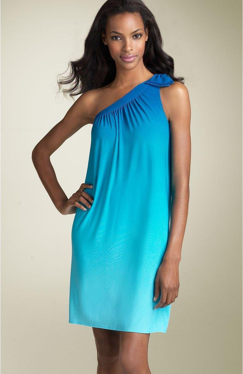 DONNA MORGAN Ombré Jersey Dress, Main, color, 400