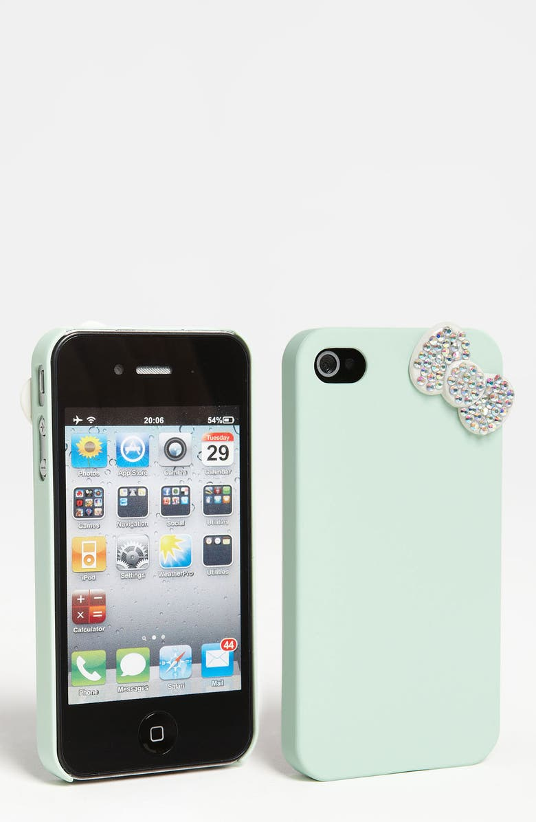 BP. 'Bling Bow' iPhone 4 & 4S Case, Main, color, 300