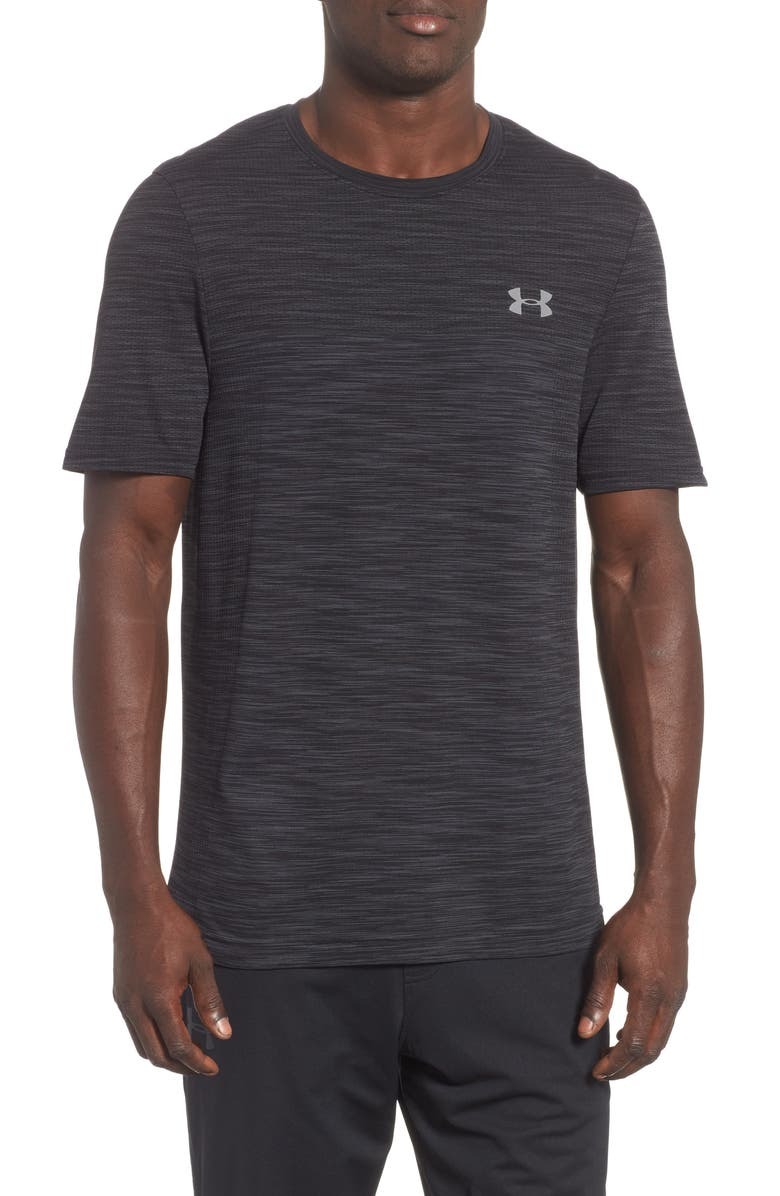 UNDER ARMOUR Siphon Performance T-Shirt, Main, color, BLACK