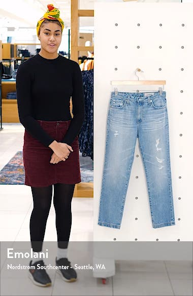 The Isabelle High Waist Crop Straight Leg Jeans, sales video thumbnail