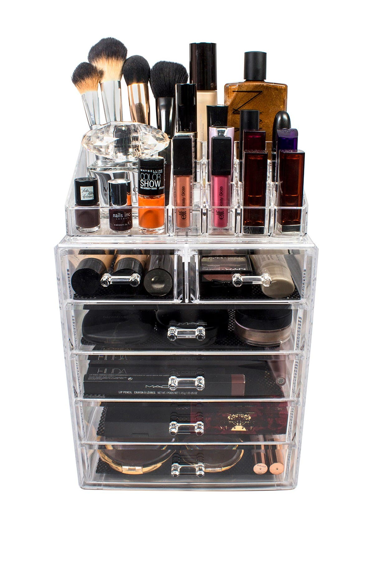 Image of Sorbus Acrylic 6 Drawer & Top Organizer Cosmetics Makeup & Jewelry Storage Case Display Set
