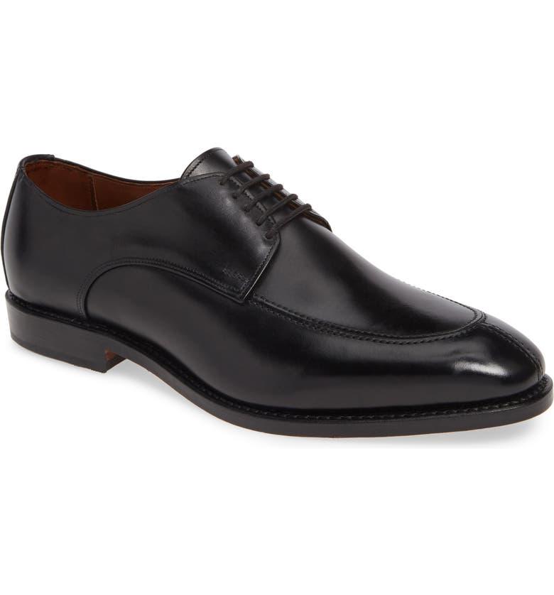 ALLEN EDMONDS Barnett Split Toe Derby, Main, color, BLACK