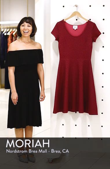 'Circle' Jacquard Woven Jersey Dress, sales video thumbnail