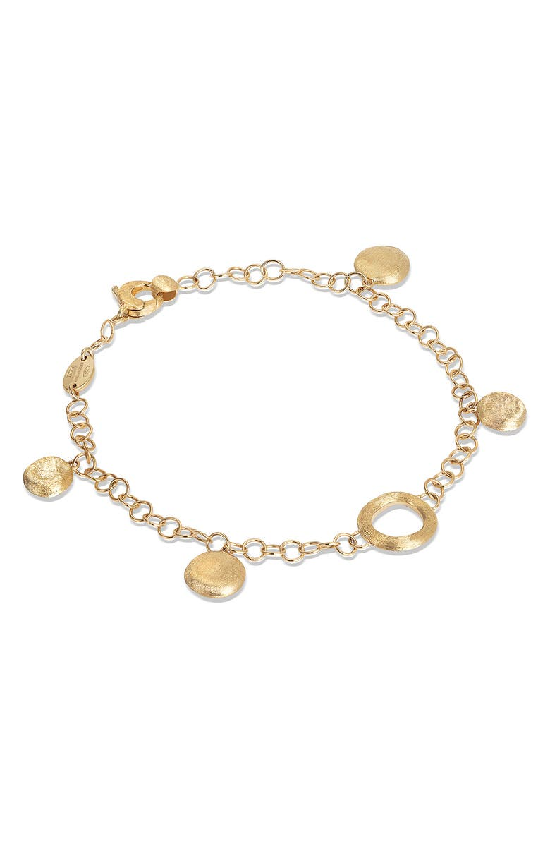 MARCO BICEGO Fine Jewelry Jaipur Coin & Link Station Bracelet, Main, color, YELLOW