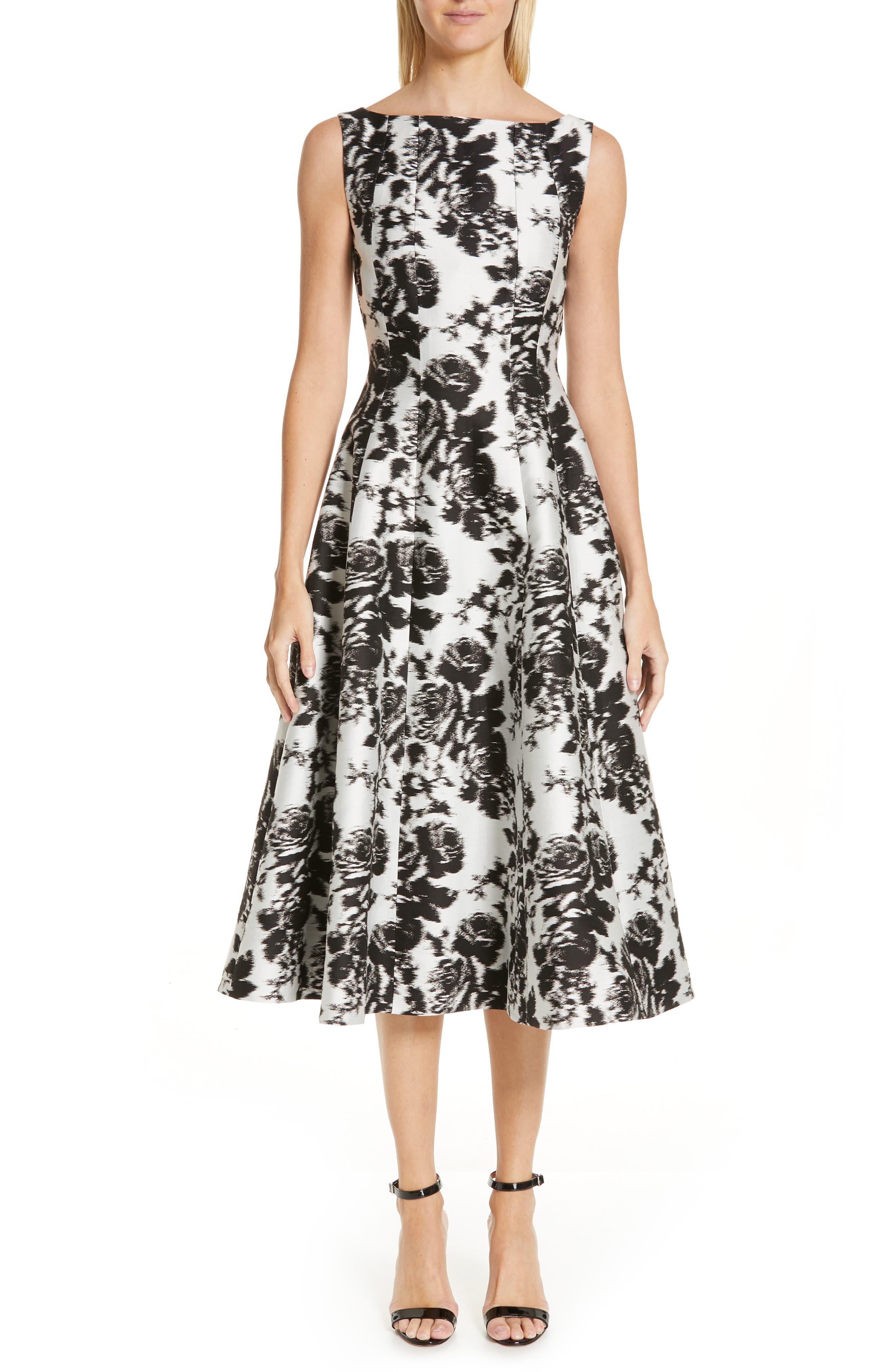 Erdem Rose Jacquard A-Line Dress, US / 10 UK - White