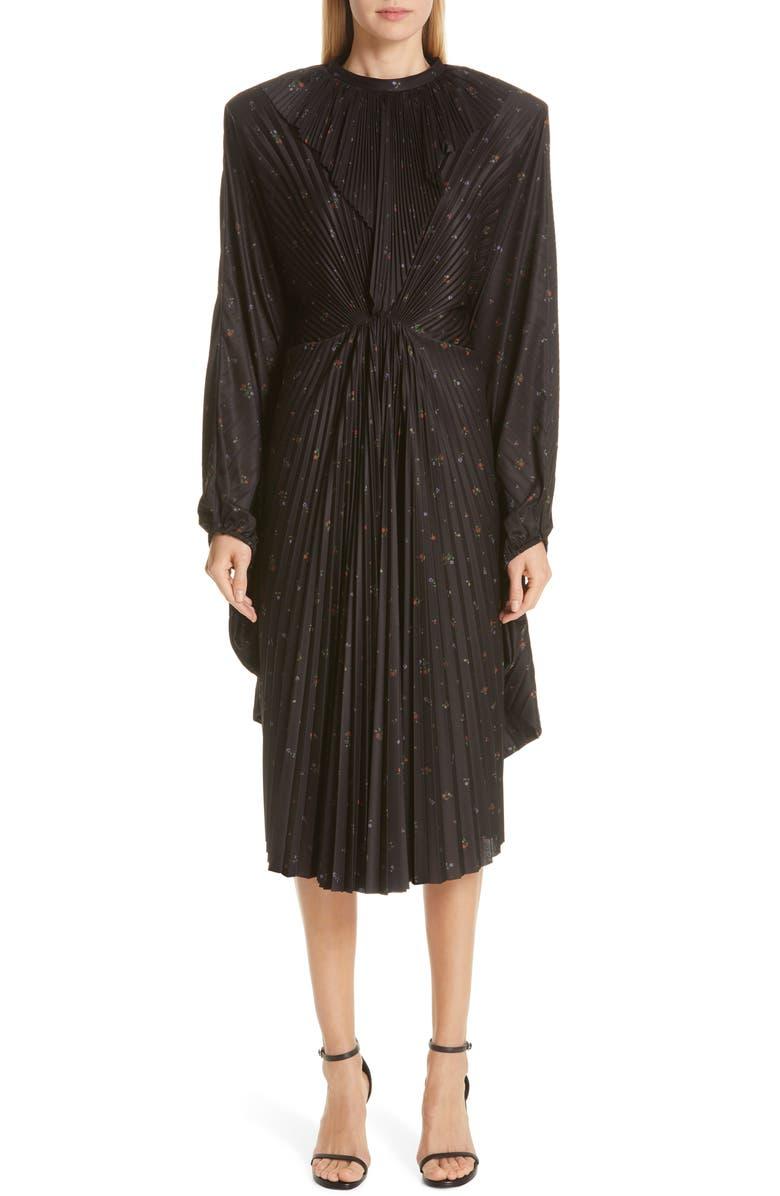 VETEMENTS Plissé Wing Dress, Main, color, 001