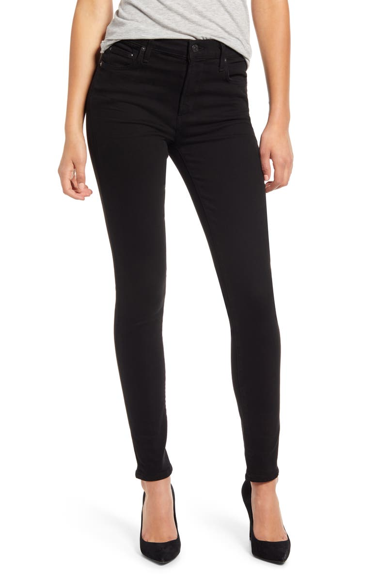 CITIZENS OF HUMANITY Rocket High Waist Ankle Skinny Jeans, Main, color, PLUSH BLACK