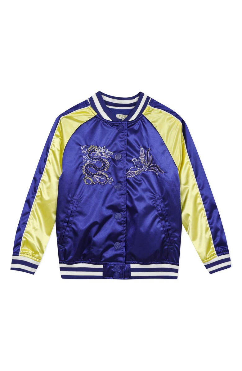 KENZO Embroidered Jacket, Main, color, ROYAL BLUE