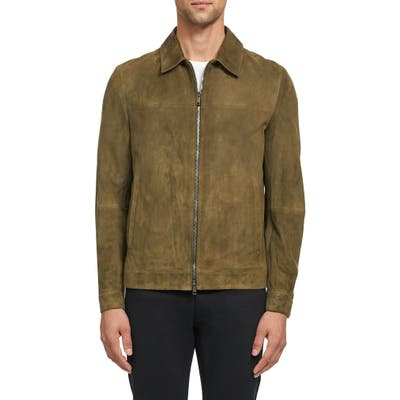 Theory Roscoe Radic Suede Jacket, Brown