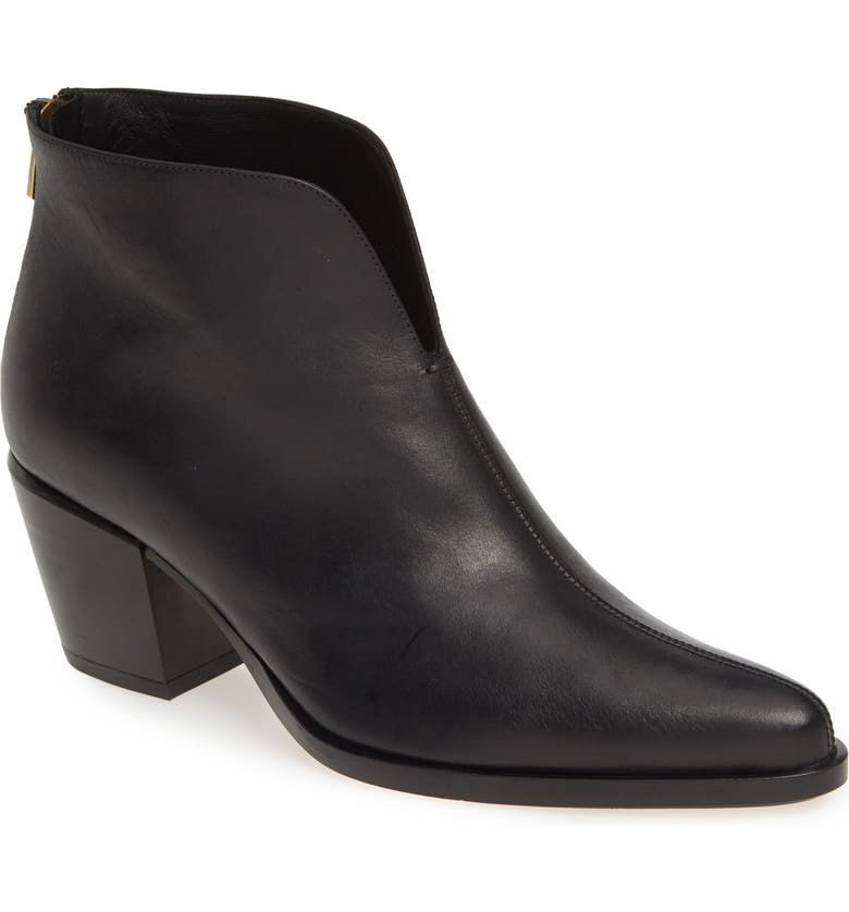 VINCE Havana Notch Bootie, Main, color, BLACK LEATHER
