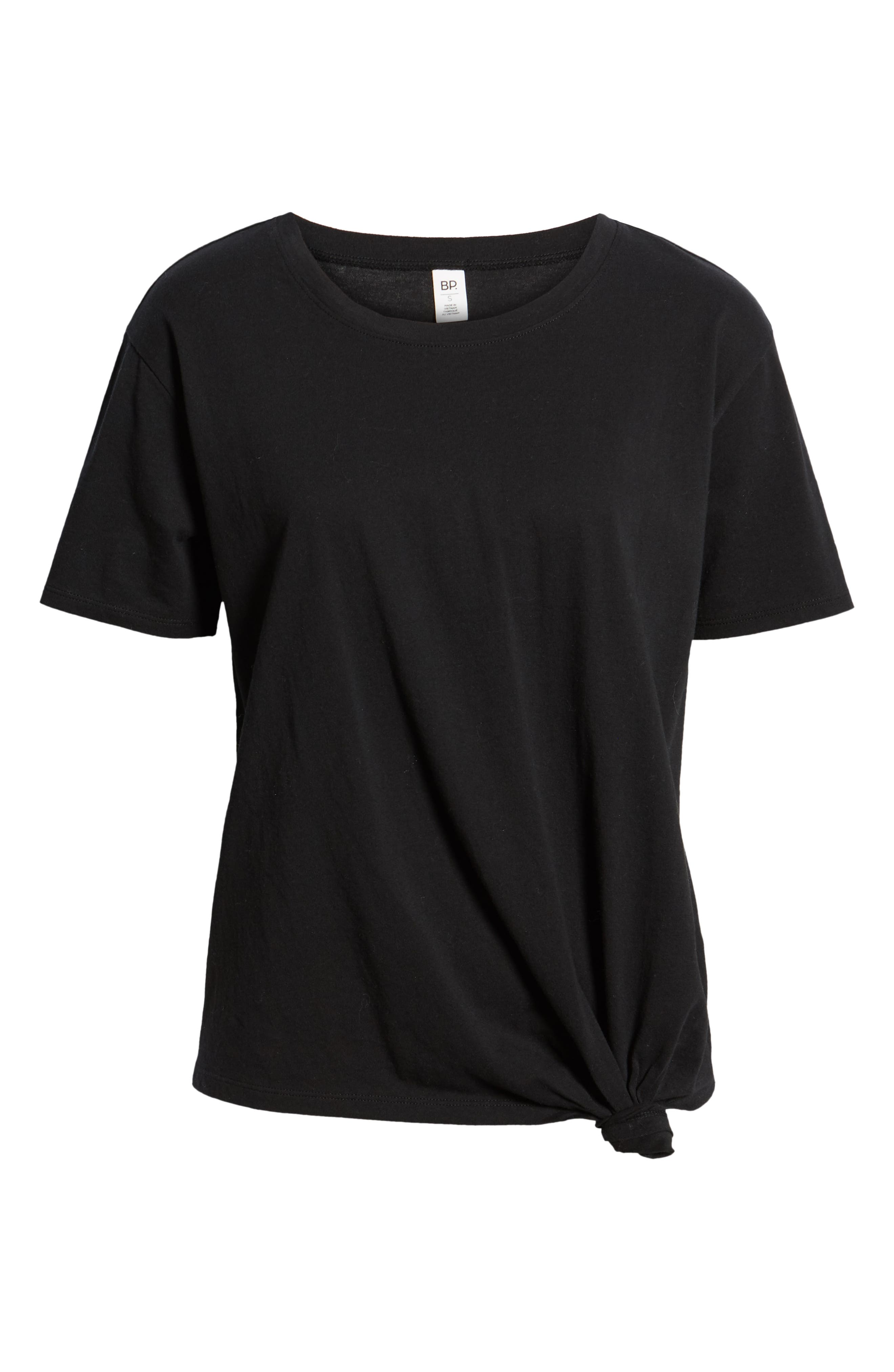 ,                             Knotted Tee,                             Alternate thumbnail 6, color,                             BLACK