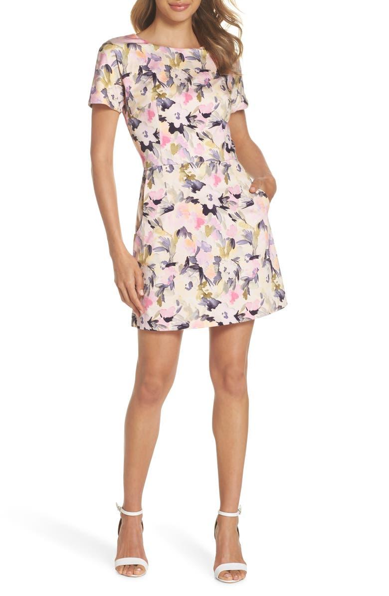 FRENCH CONNECTION Catlett Cotton Dress, Main, color, 685