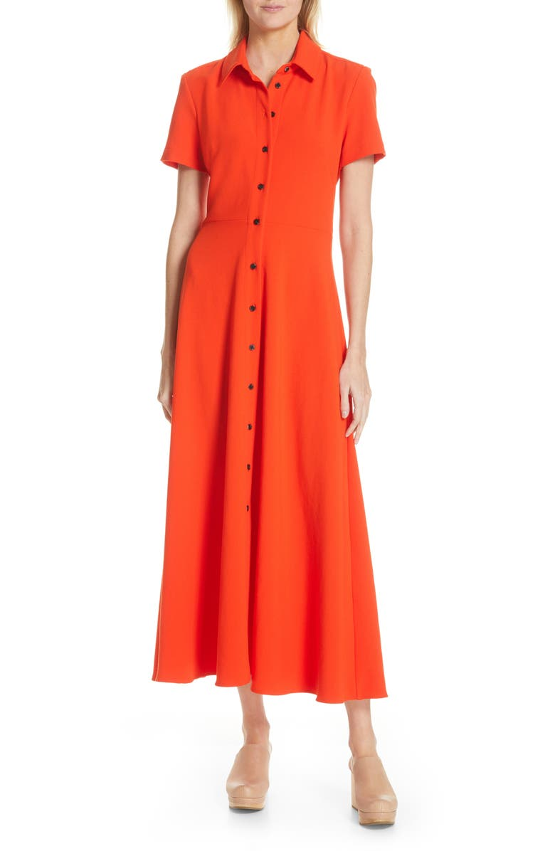 RACHEL COMEY Axil Midi Dress, Main, color, ELECTRIC RED