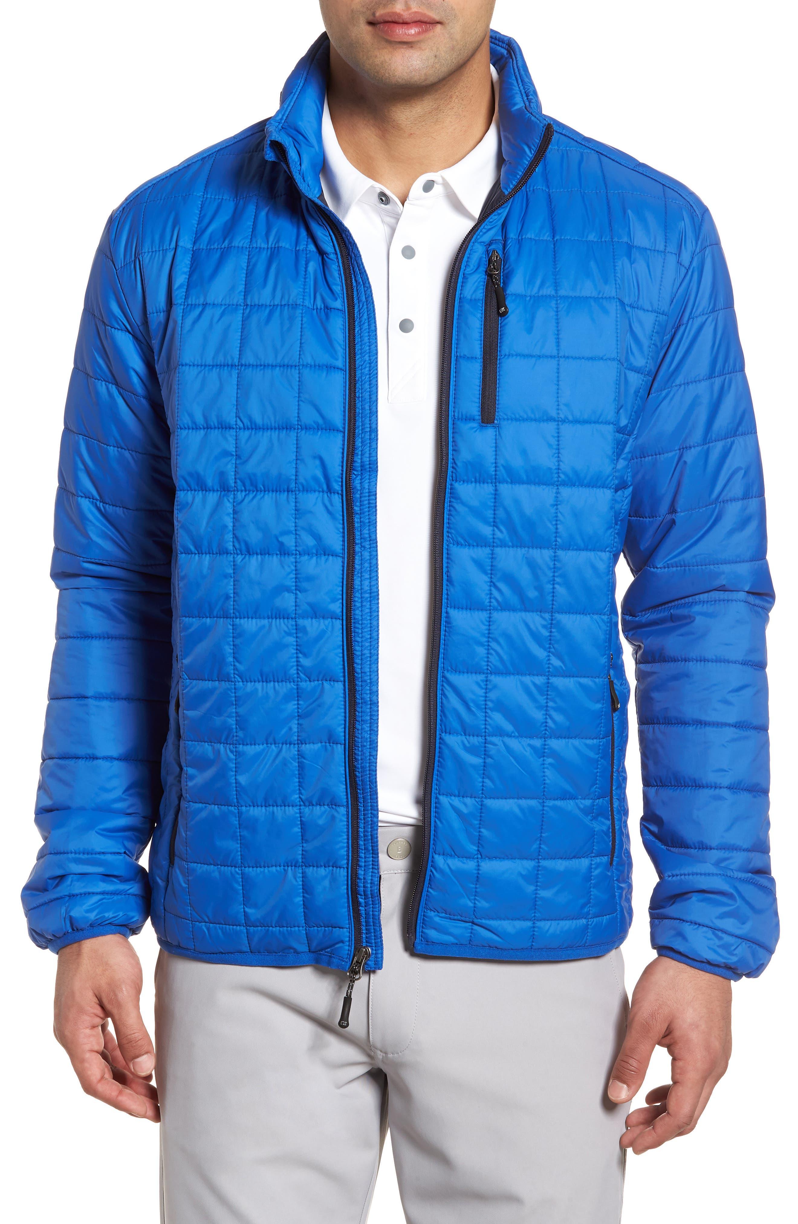 Big & Tall Cutter & Buck Rainier Primaloft Insulated Jacket, Blue