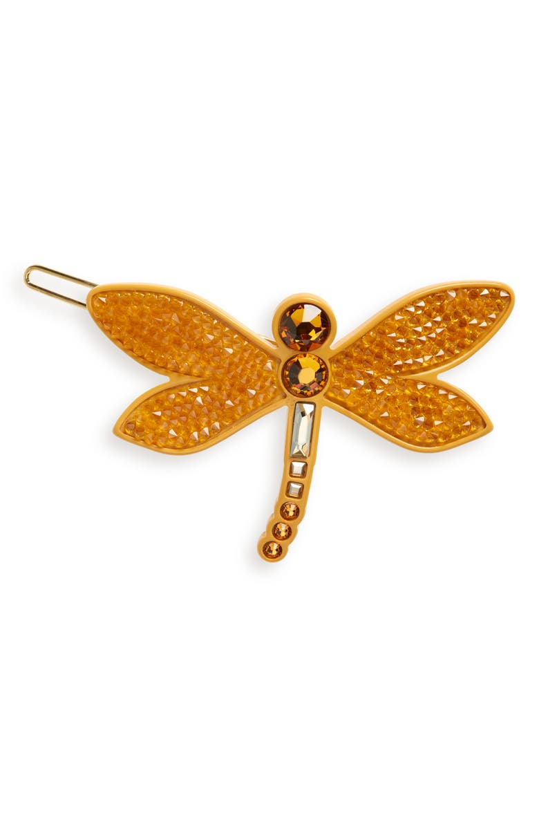 ALEXANDRE DE PARIS Mayfly Side Barrette, Main, color, ORANGE