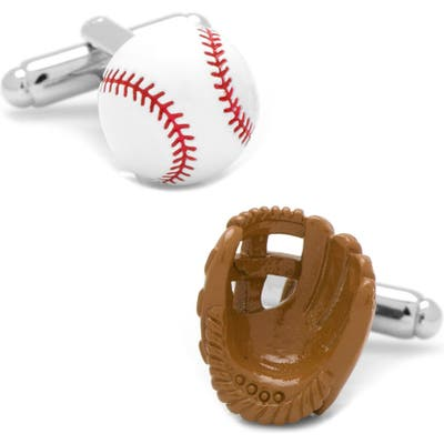 Cufflinks, Inc. Baseball & Glove Cuff Links