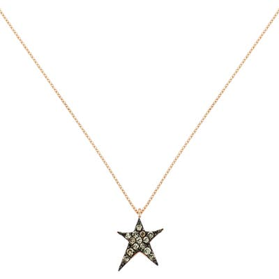 Kismet By Milka Struck Star Champagne Diamond Necklace