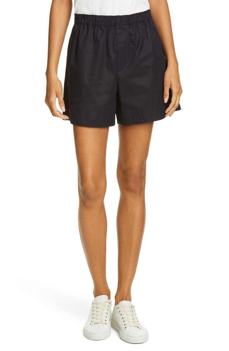 HELMUT LANG Cotton Twill Shorts, Main, color, INK