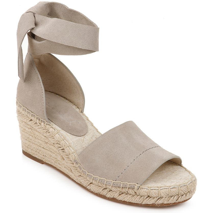 SPLENDID Malissa Espadrille Wedge Sandal, Main, color, DOVE SUEDE