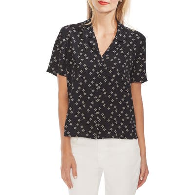 Vince Camuto Floral Print Shirt, Black