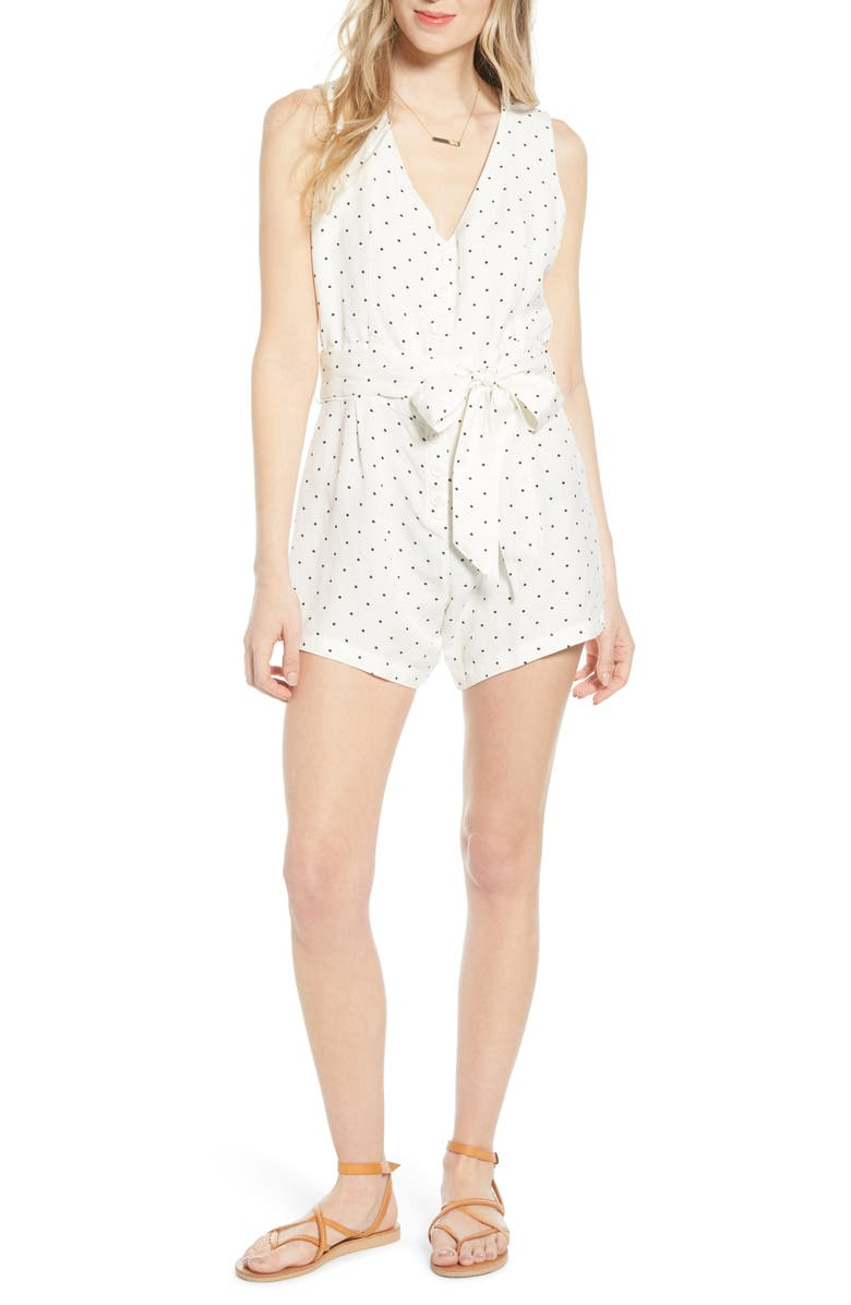 RAILS Scarlett Sleeveless Romper, Main, color, BLACK MINI DOTS