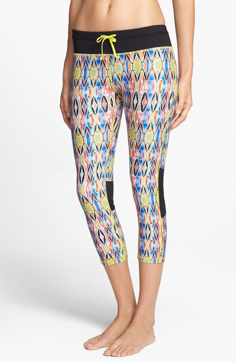 C & C CALIFORNIA 'Velocity' Print Tights, Main, color, 001