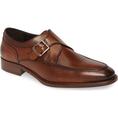 Johnston & Murphy Cormac Monk Strap Shoe, Brown