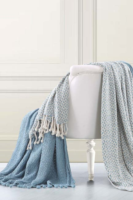 Image of Modern Threads Picasso Throw - Set of 2 - Blue