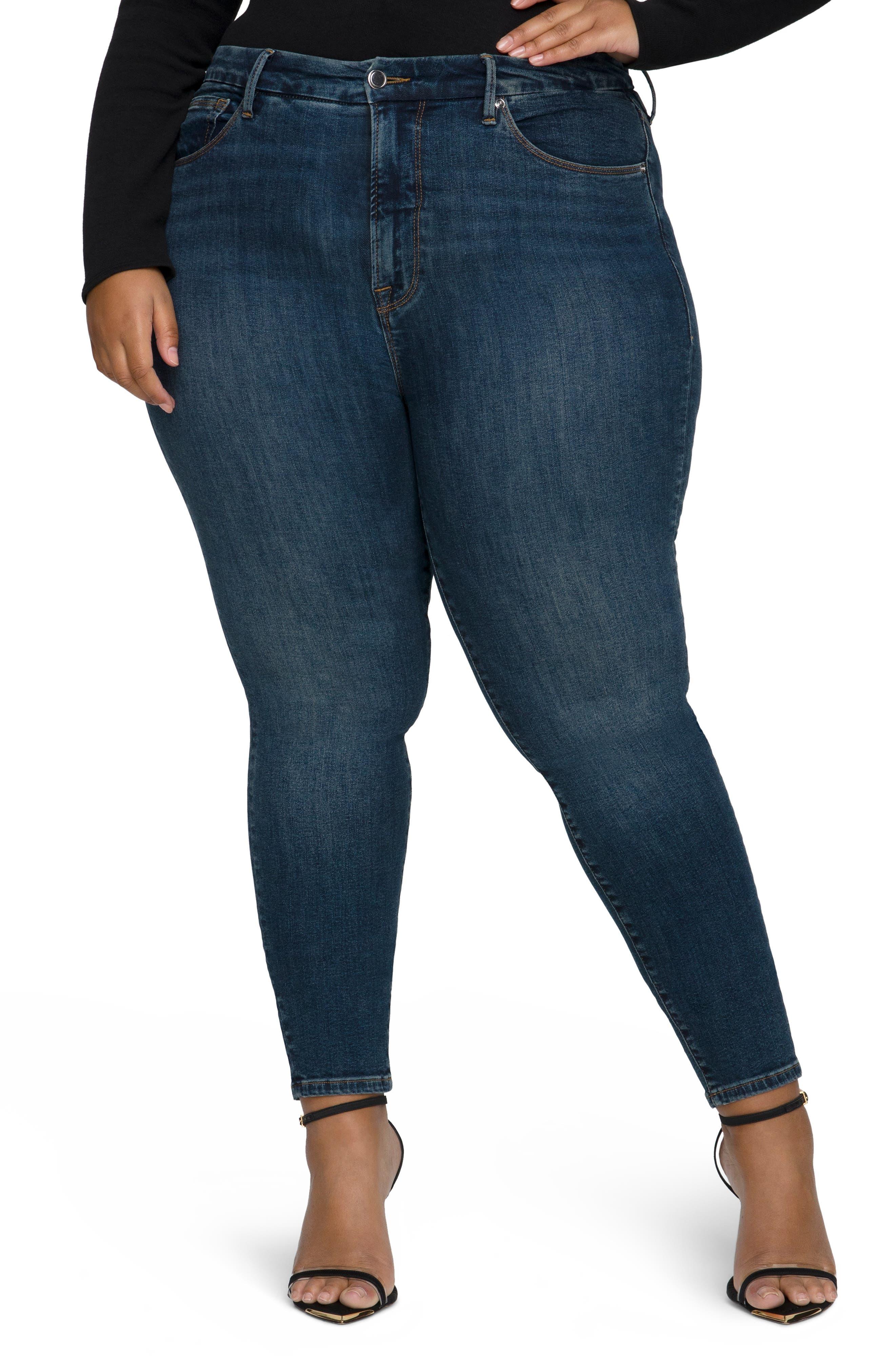 Good Legs Deep-V High Waist Ankle Skinny Jeans