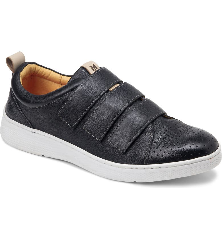SANDRO MOSCOLONI Sandro Moscolini Mert Strap Sneaker, Main, color, BLACK LEATHER