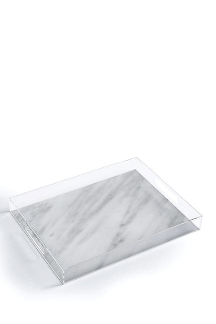 Image of Deny Designs Emanuela Carratoni Italian Marble Carrara Acrylic Tray